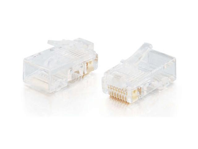 C2G 01940 RJ45 Cat5 8x8 Modular Plug for Flat Stranded Cable - 50pk