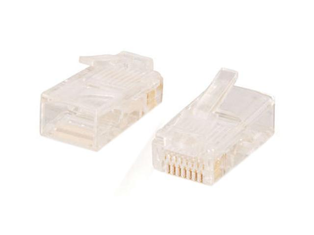 C2G 11380 RJ45 Cat5 8 x 8 Modular Plug for Round Stranded Cable - 50pk