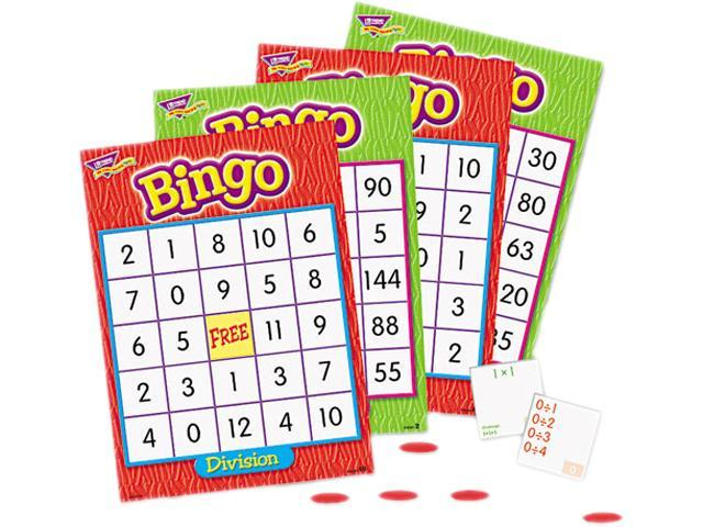 Bingo Game, Multiplication And Division