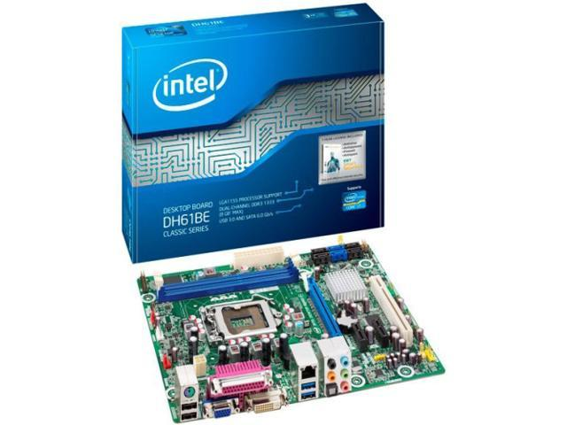 Intel Classic DH61BE Desktop Motherboard - Intel H61 Express Chipset - Socket H2 LGA-1155 - 10 x Bulk Pack
