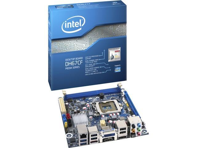 Intel Media DH67CF Desktop Motherboard - Intel H67 Express Chipset - Socket H2 LGA-1155 - 10 x Bulk Pack