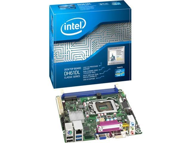 Intel Classic DH61DL Desktop Motherboard - Intel H61 Express Chipset - Socket H2 LGA-1155 - 10 x Bulk Pack