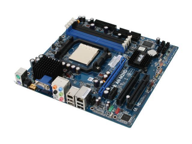 ABIT AN-M2HD AM2 NVIDIA GeForce 7050PV HDMI Micro ATX AMD Motherboard