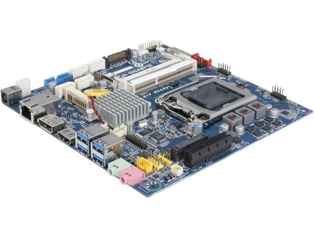 GIGABYTE GA-H87TN LGA 1150 Intel H87 HDMI SATA 6Gb/s USB 3.0 Thin Mini-ITX Intel Motherboard
