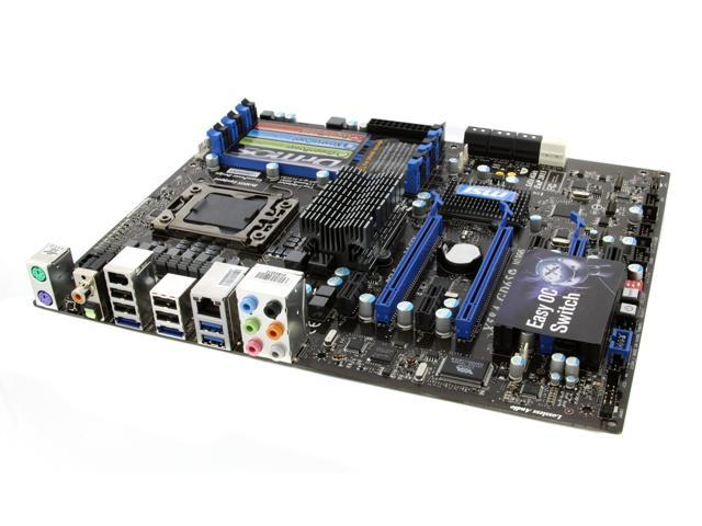 MSI X58A-GD65 LGA 1366 Intel X58 SATA 6Gb/s USB 3.0 ATX Intel Motherboard