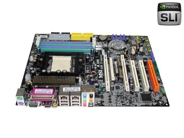 MSI K8N Neo4 Platinum SLI 939 NVIDIA nForce4 SLI ATX AMD Motherboard