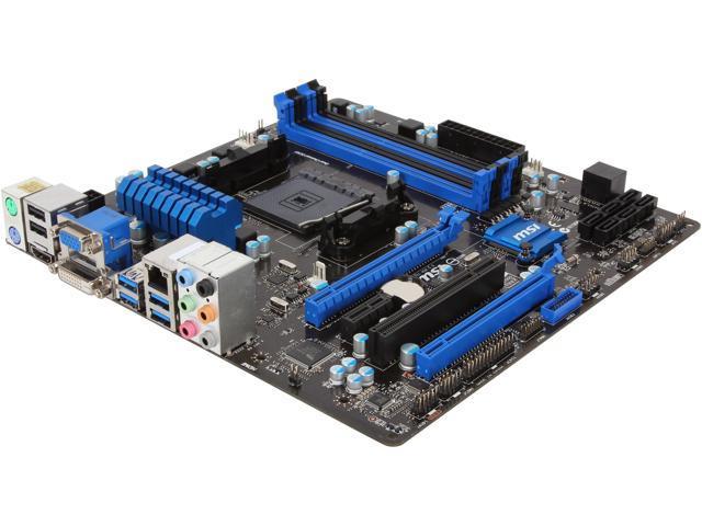 MSI A88XM-E45 FM2+ / FM2 AMD A88X (Bolton D4) SATA 6Gb/s USB 3.0 HDMI Micro ATX AMD Motherboard