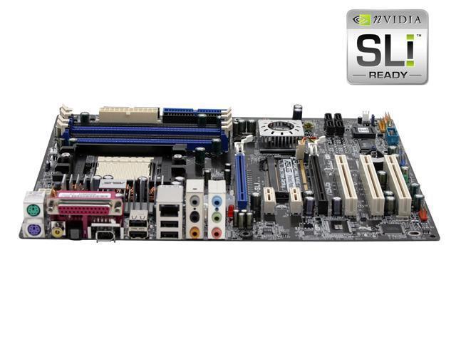 ASUS A8N-SLI 939 NVIDIA nForce4 SLI ATX AMD Motherboard