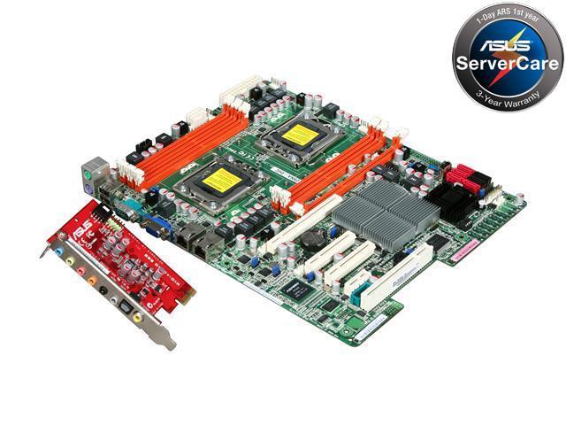 ASUS Z8NA-D6C (MIO) Dual LGA 1366 Intel 5500 ATX Dual Intel Xeon 5500 and 5600 Series w/ MIO Sound card Server/Workstation Motherboard