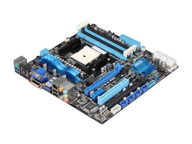 ASUS F1A75-M PRO FM1 AMD A75 (Hudson D3) SATA 6Gb/s USB 3.0 HDMI Micro ATX AMD Motherboard with UEFI BIOS