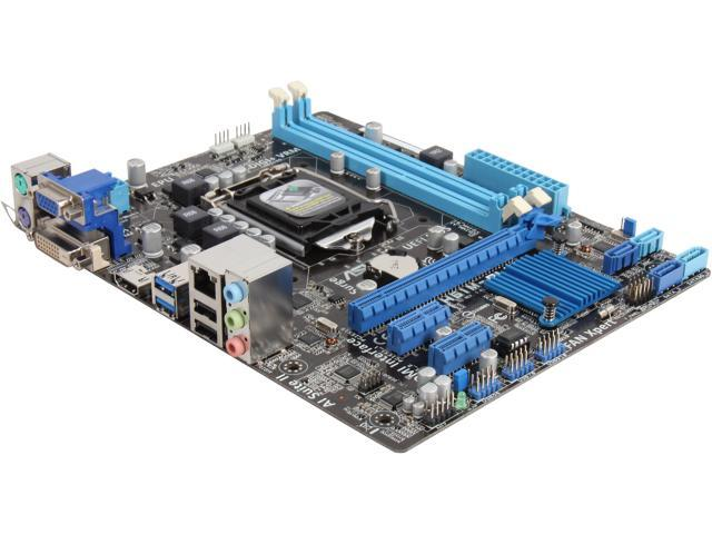 ASUS H61M-PLUS LGA 1155 Intel H61(B3) HDMI SATA 6Gb/s USB 3.0 Micro ATX Intel Motherboard