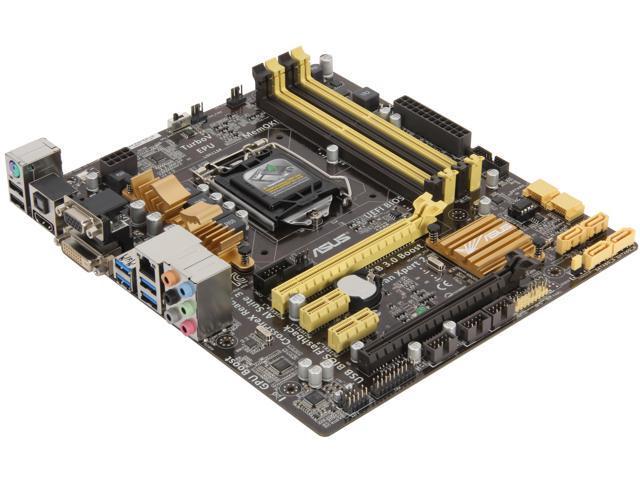 ASUS Z87M-PLUS LGA 1150 Intel Z87 HDMI SATA 6Gb/s USB 3.0 uATX Intel Motherboard