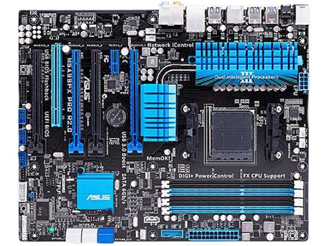 ASUS M5A99FX PRO R2.0 AM3+ AMD 990FX SATA 6Gb/s USB 3.0 ATX AMD Motherboard with UEFI BIOS
