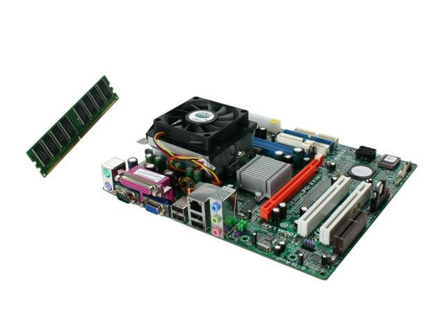 ECS Goal3+Athlon64 3200 AMD Athlon64 3200+ 754 SiS 761 GX Micro ATX Motherboard/CPU/CPU Fan/Memory Combo