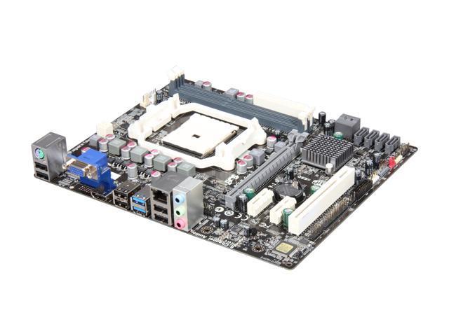 ECS A75F-M2 FM1 AMD A75 (Hudson D3) SATA 6Gb/s USB 3.0 HDMI Micro ATX AMD Motherboard