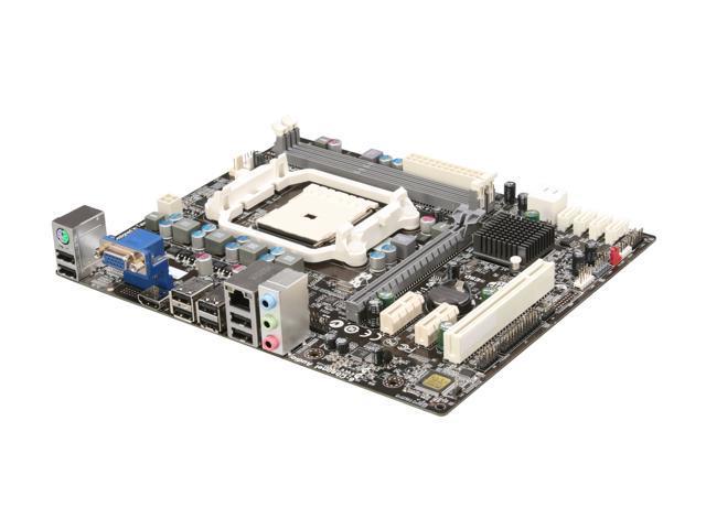 ECS A55F-M2(1.0A) FM1 AMD A55 (Hudson D2) HDMI Micro ATX AMD Motherboard