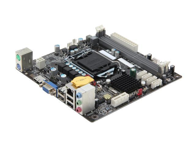 ECS H61H2-I3 (v1.0) LGA 1155 Intel H61 HDMI Mini ITX Intel Motherboard