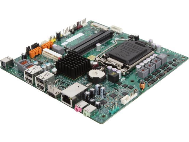 ECS H61H-G11 (V7.1) LGA 1155 Intel H61 HDMI Thin Mini-ITX Intel Motherboard