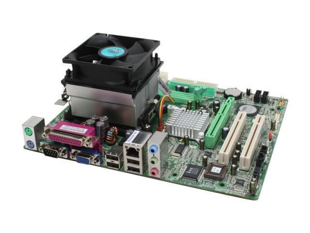 BIOSTAR AM2VCOMB34S AMD Sempron 3400+ AM2 VIA K8M800 Micro ATX Motherboard/CPU Combo