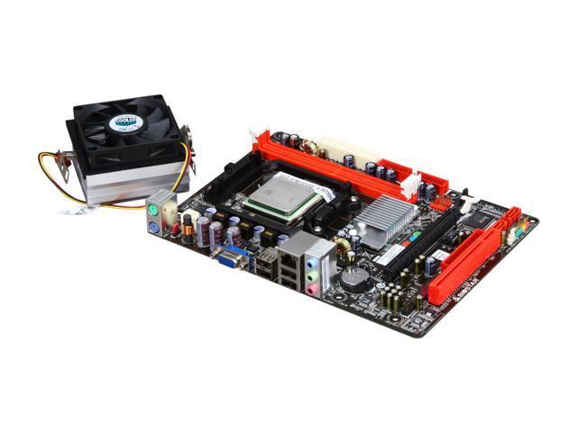 BIOSTAR COMBO6K2300 AMD Sempron X2 2300 AM3/AM2+/AM2 NVIDIA GeForce 6150 Micro ATX Motherboard/CPU Combo