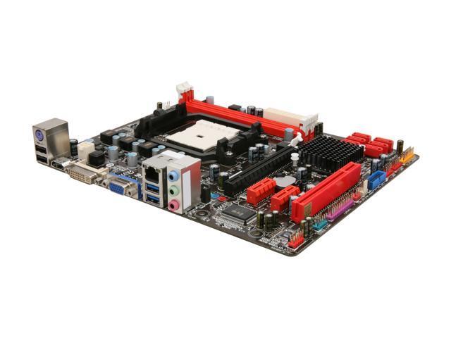 BIOSTAR A75MH FM1 AMD A75 (Hudson D3) SATA 6Gb/s USB 3.0 HDMI Micro ATX AMD Motherboard