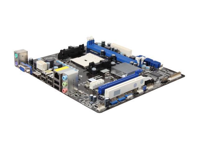 ASRock A55M-HVS FM1 AMD A55 (Hudson D2) HDMI Micro ATX AMD Motherboard