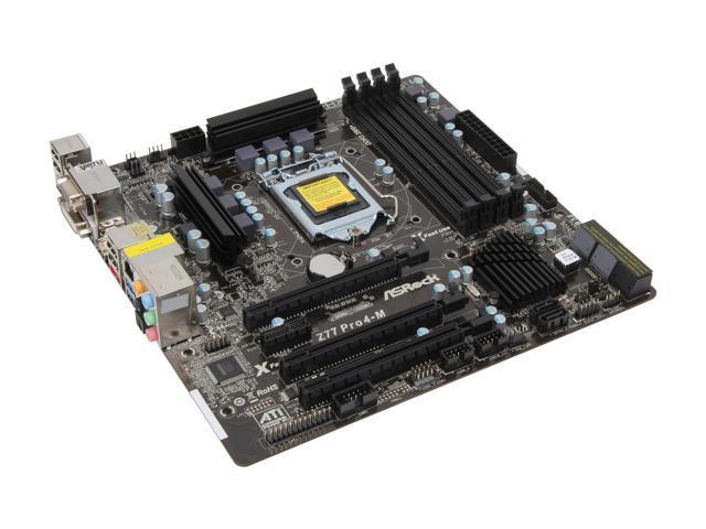 ASRock Z77 Pro4-M LGA 1155 Intel Z77 HDMI SATA 6Gb/s USB 3.0 Micro ATX Intel Motherboard