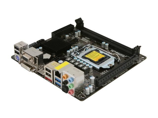 ASRock B75M-ITX LGA 1155 Intel B75 HDMI SATA 6Gb/s USB 3.0 Mini ITX Intel Motherboard