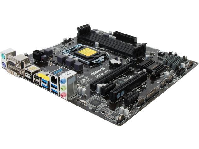 ASRock Q87M vPro LGA 1150 Intel Q87 HDMI SATA 6Gb/s USB 3.0 Micro ATX Intel Motherboard