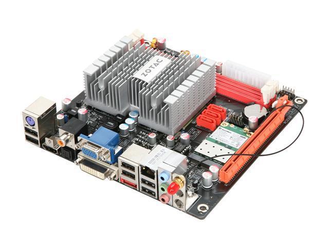 ZOTAC IONITX-F-E Intel Atom 330 (1.6GHz, dual-core) MCP7A-ION Mini ITX Motherboard/CPU Combo