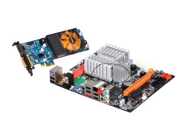 ZOTAC NM10-B-E-ION Intel Atom D510 (1.66GHz, dual-core) BGA559 Intel NM10 Mini DTX Motherboard/CPU/VGA Combo