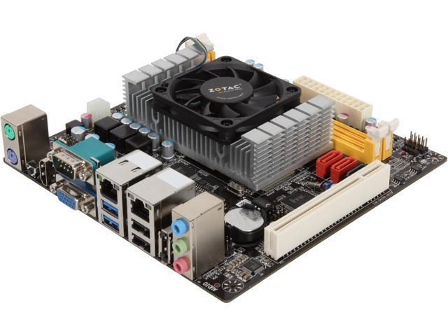 ZOTAC NM70ITX-C-E Intel Processor (dual-core, 1.5 GHz) Intel NM70 Mini ITX Motherboard/CPU/VGA Combo