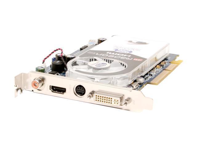 SAPPHIRE Radeon X1600PRO DirectX 9 100187L 256MB 128-Bit GDDR2 AGP 4X/8X HDCP Ready HDMI HDCP Video Card