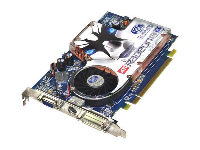 SAPPHIRE Radeon X1600XT DirectX 9 100146L 256MB 128-Bit GDDR3 PCI Express x16 CrossFire Supported Video Card