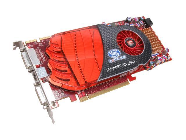 SAPPHIRE Radeon HD 4850 DirectX 10.1 100242L 512MB 256-Bit GDDR3 PCI Express 2.0 x16 HDCP Ready CrossFireX Support Video Card