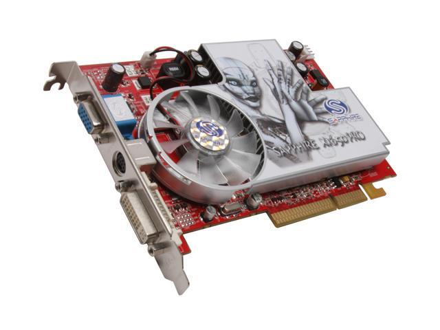 SAPPHIRE Radeon X1650PRO DirectX 9 100275L 512MB 128-Bit GDDR2 AGP 4X/8X Video Card