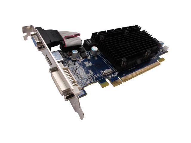 SAPPHIRE HD 4000 Radeon HD 4350 DirectX 10.1 100264HDMI 512MB 64-Bit DDR2 PCI Express 2.0 x16 HDCP Ready CrossFireX Support Low Profile Ready Video Card