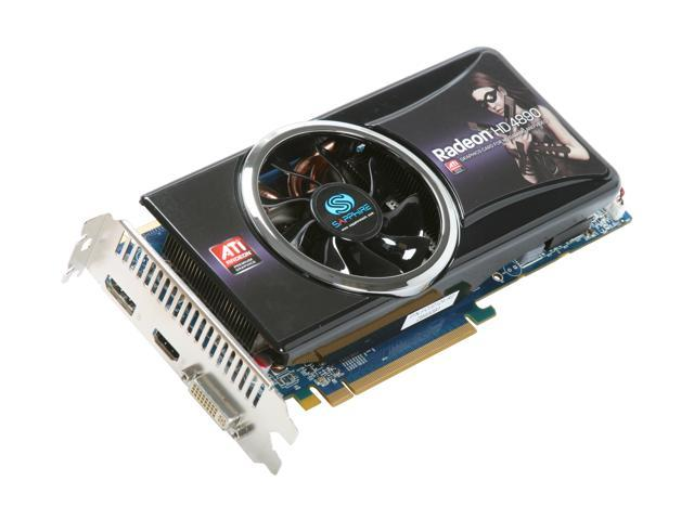 SAPPHIRE Radeon HD 4890 DirectX 10.1 100269HDMI 1GB 256-Bit GDDR5 PCI Express 2.0 x16 HDCP Ready CrossFireX Support Video Card