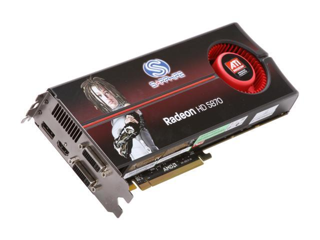 SAPPHIRE Radeon HD 5870 (Cypress XT) DirectX 11 100281SR Video Card with Eyefinity