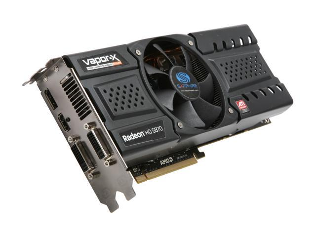 SAPPHIRE Radeon HD 5870 DirectX 11 100281VXSR Video Card