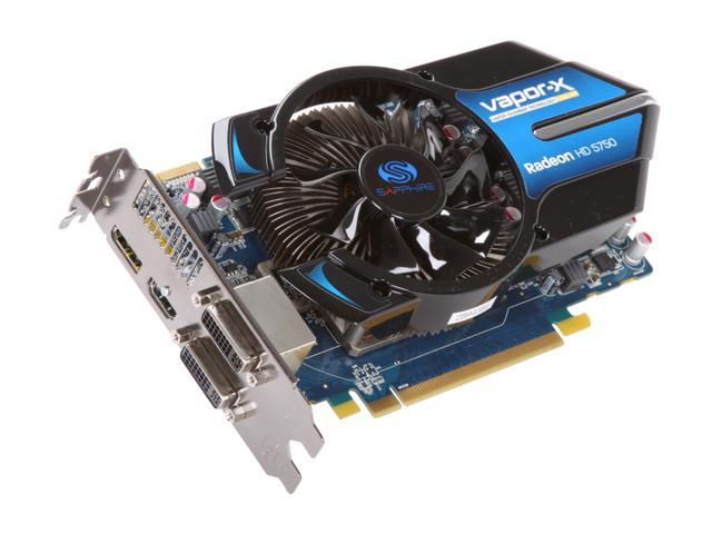SAPPHIRE Vapor-X Radeon HD 5750 DirectX 11 100284VXL Video Card with Eyefinity