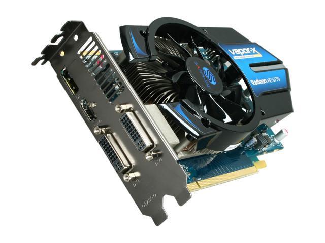 SAPPHIRE Vapor-X Radeon HD 5770 DirectX 11 100283VXL 1GB 128-Bit GDDR5 PCI Express 2.0 x16 HDCP Ready CrossFireX Support Video Card