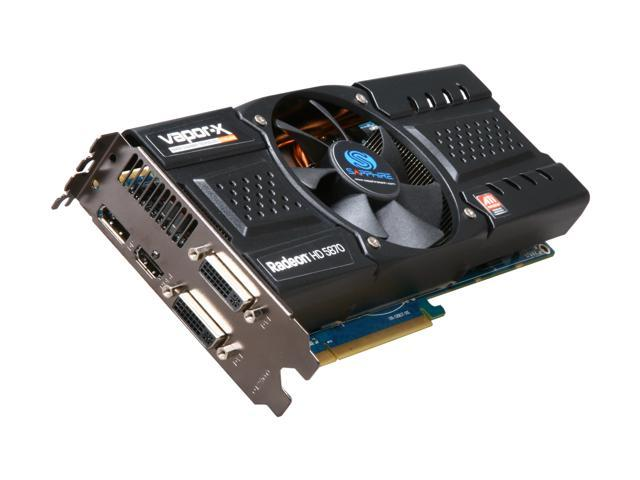 SAPPHIRE Vapor-X Radeon HD 5870 DirectX 11 100281VX-2SR 1GB 256-Bit GDDR5 PCI Express 2.0 x16 HDCP Ready CrossFireX Support Video Card with Eyefinity