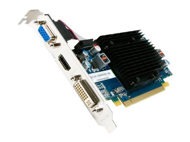 SAPPHIRE Radeon HD 5450 (Cedar) DirectX 11 100291L 512MB 64-Bit DDR2 PCI Express 2.1 x16 HDCP Ready CrossFireX Support Video Card