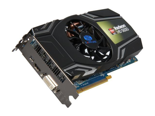 SAPPHIRE Radeon HD 5830 DirectX 11 100297L 1GB 256-Bit GDDR5 PCI Express 2.1 x16 HDCP Ready CrossFireX Support Video Card w/ ATI Eyefinity Technology