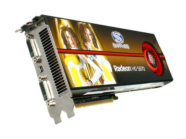 SAPPHIRE Radeon HD 5970 (Hemlock) DirectX 11 100280SR 2GB 512 (256 x 2)-Bit GDDR5 PCI Express 2.1 x16 HDCP Ready CrossFireX Support Video Card