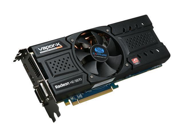 SAPPHIRE Toxic Radeon HD 5870 DirectX 11 100281-2GTXSR Video Card