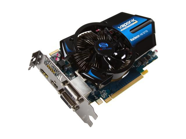 SAPPHIRE Vapor-X Radeon HD 5770 (Juniper XT) DirectX 11 100283VX-2L 1GB 128-Bit GDDR5 PCI Express 2.1 x16 HDCP Ready CrossFireX Support Video Card w/ Eyefinity