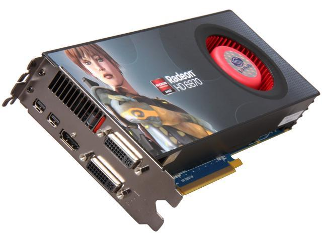 SAPPHIRE Radeon HD 6870 DirectX 11 100314SR 1GB 256-Bit GDDR5 PCI Express 2.1 x16 HDCP Ready CrossFireX Support Video Card with Eyefinity