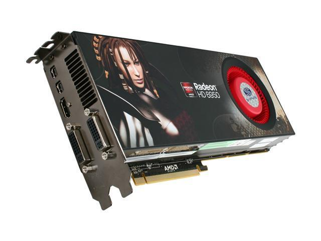 SAPPHIRE Radeon HD 6950 DirectX 11 100312SR 2GB 256-Bit GDDR5 PCI Express 2.1 x16 HDCP Ready CrossFireX Support Video Card with Eyefinity